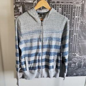 Mens medium Banana Republic zip up sweater